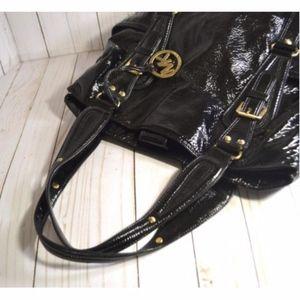 Michael Kors Lattington Black Patent Leather Purse